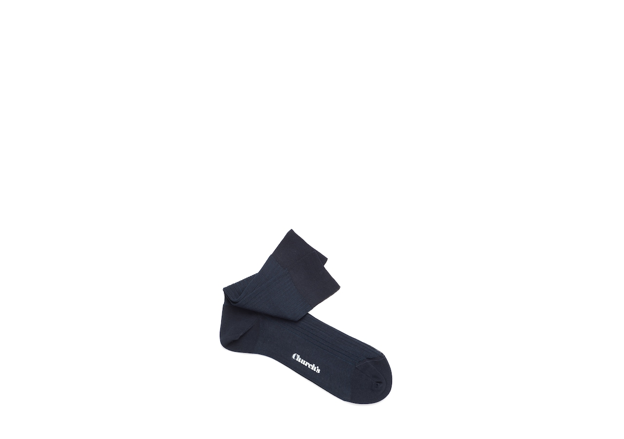 Contrast ribbed socks Church's Cotton Ribbed Short Blue
