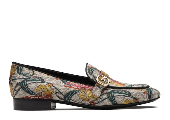 Jaquard Bouquet Buckle Loafer