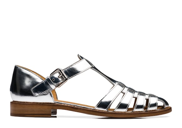 Mirror Calf Leather Sandal