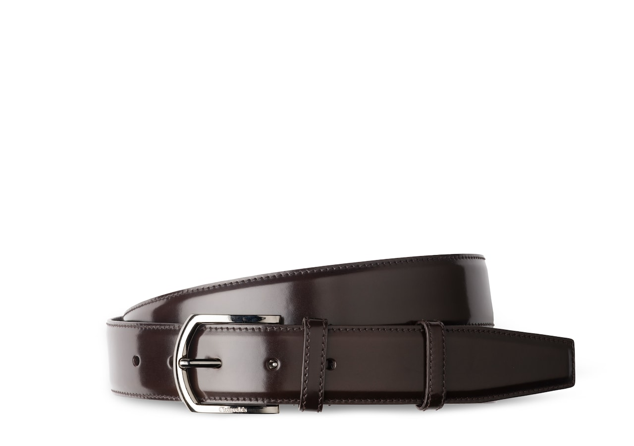 Classic buckle belt Church's Polished Binder Brown