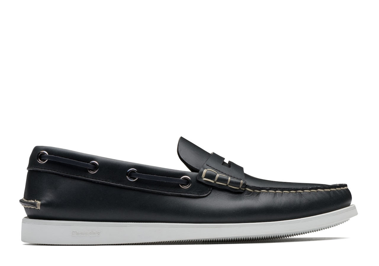 Tennington Church's Calf Leather Boat Loafer Blue