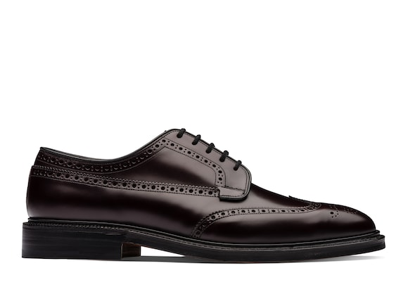 Derby Brogue in Pelle di Vitello Spazzolato
