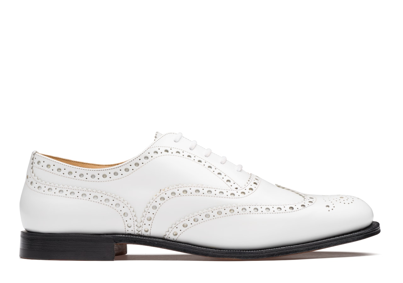 Burwood 2 Church's Polished Binder Oxford Brogue White