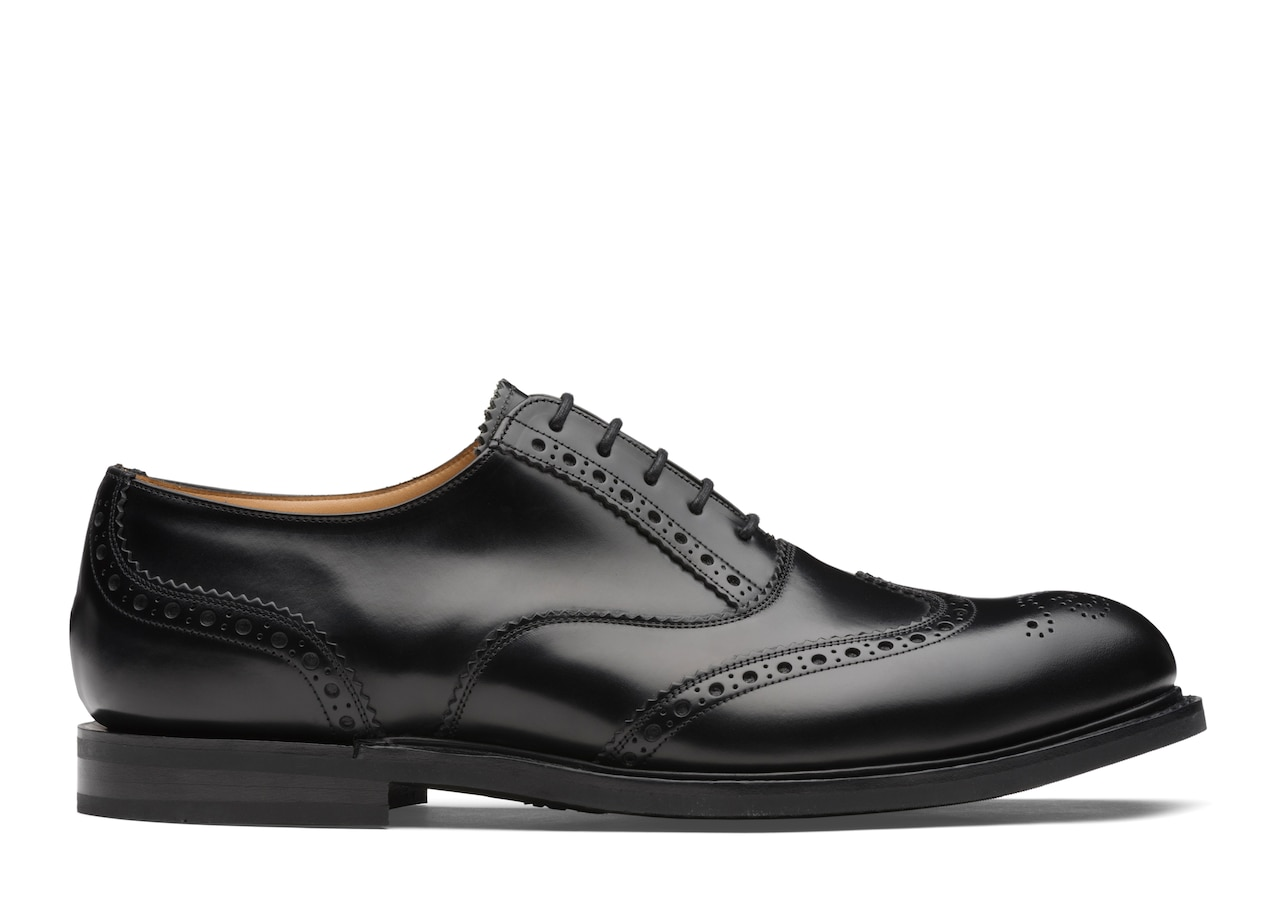 Wareham Church's Polished Binder Oxford Brogue Black