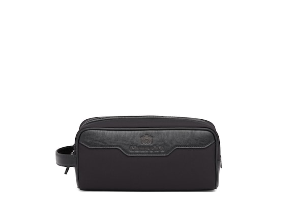 St James Leather Tech Washbag Small