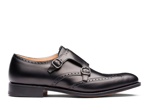 Calf Leather Monk Strap Brogue