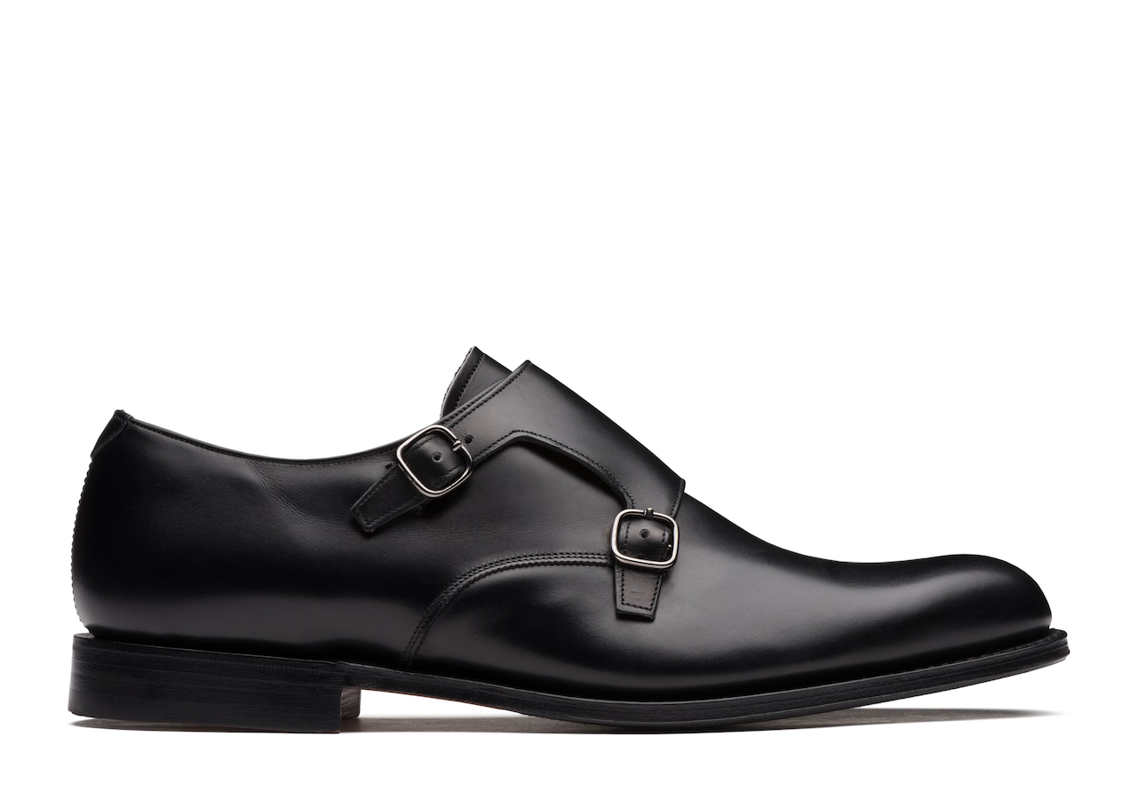 Warminster Church's Calf Leather Monk Strap Black