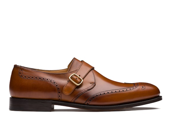 Nevada Leather Monk Strap Brogue