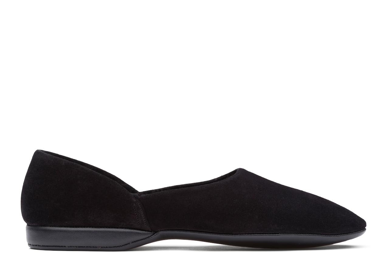 Jason 03 Church's Suede Grecian Slipper Black