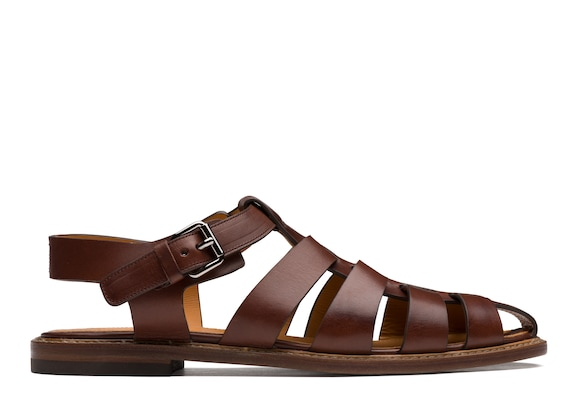 Calf Leather Open Back Sandal